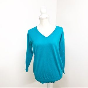 Banana Republic aquamarine Blue V Neck Sweater